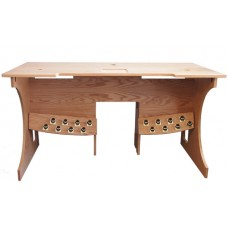 Slightly Marked - Console Table with 16 Toe Studs - Oak Golden Pecan