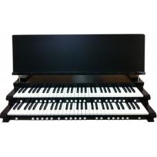 2-Manual Black Satin Key Cheeks with Music Rest
