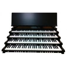 4-Manual Black Satin Key Cheeks with Music Rest