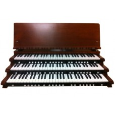 3-Manual Red Walnut Key Cheeks with Music Rest